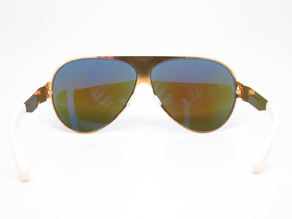 Mykita Bernard Willhelm Franz F9 Gold w/Azure Flash Mirrored Sunglasses - Eye Heart Shades - Mykita - Sunglasses - 7