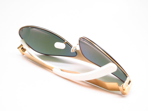 Mykita Bernard Willhelm Franz F9 Gold w/Azure Flash Mirrored Sunglasses - Eye Heart Shades - Mykita - Sunglasses - 8
