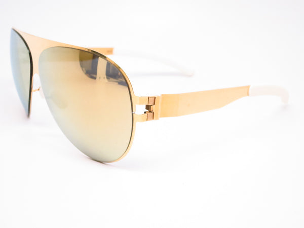 Mykita Bernard Willhelm Franz F9 Gold w/Gold Flash Mirrored Sunglasses - Eye Heart Shades - Eye Heart Shades - Sunglasses - 1