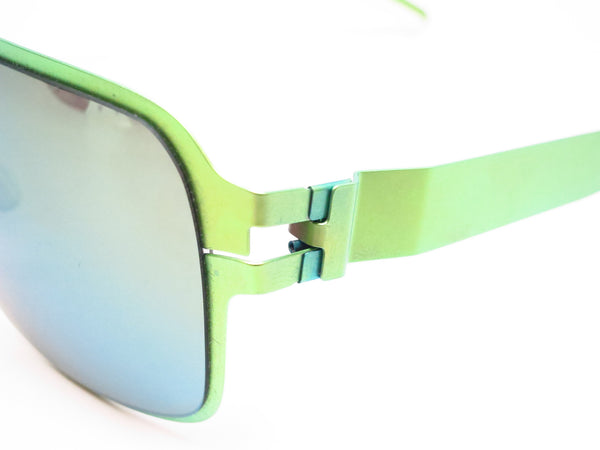 Mykita Bernard Willhelm Heinz Limegreen w/Flash Mirror Sunglasses - Eye Heart Shades - Mykita - Sunglasses - 3