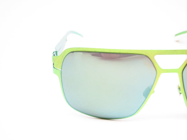 Mykita Bernard Willhelm Heinz Limegreen w/Flash Mirror Sunglasses - Eye Heart Shades - Mykita - Sunglasses - 4