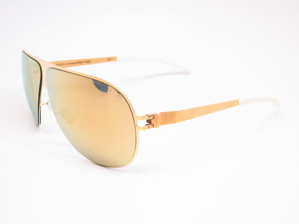 Mykita Hubert F9 Gold w/Gold Flash Sunglasses - Eye Heart Shades - Mykita - Sunglasses - 1