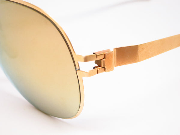 Mykita Hubert F9 Gold w/Gold Flash Sunglasses - Eye Heart Shades - Mykita - Sunglasses - 3