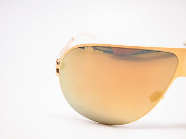 Mykita Hubert F9 Gold w/Gold Flash Sunglasses - Eye Heart Shades - Mykita - Sunglasses - 4