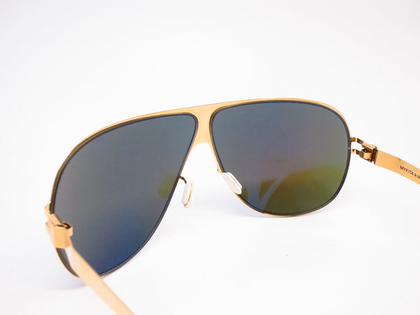 Mykita Hubert F9 Gold w/Azure Flash Sunglasses - Eye Heart Shades - Mykita - Sunglasses - 6