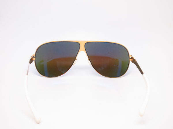 Mykita Hubert F9 Gold w/Azure Flash Sunglasses - Eye Heart Shades - Mykita - Sunglasses - 7