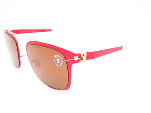 Mykita Hunter 147 Gold/Coral Red Decades Sun Sunglasses - Eye Heart Shades - Mykita - Sunglasses - 1
