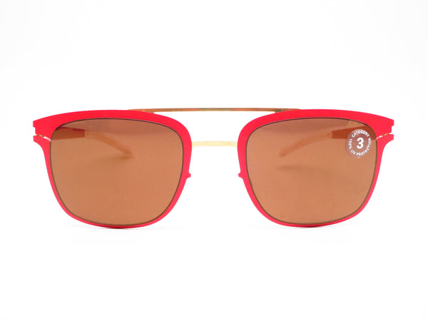 Mykita Hunter 147 Gold/Coral Red Decades Sun Sunglasses - Eye Heart Shades - Mykita - Sunglasses - 2