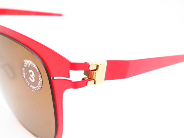 Mykita Hunter 147 Gold/Coral Red Decades Sun Sunglasses - Eye Heart Shades - Mykita - Sunglasses - 3