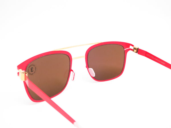 Mykita Hunter 147 Gold/Coral Red Decades Sun Sunglasses - Eye Heart Shades - Mykita - Sunglasses - 6