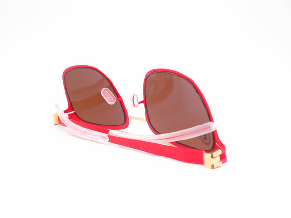 Mykita Hunter 147 Gold/Coral Red Decades Sun Sunglasses - Eye Heart Shades - Mykita - Sunglasses - 8