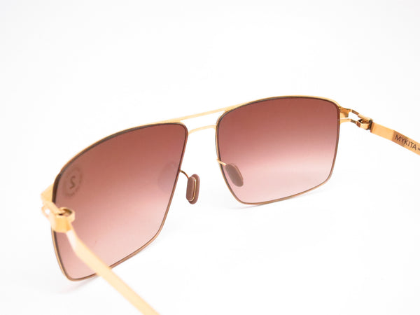 Mykita Owen No.1 Sun 013 Glossy Gold Sunglasses - Eye Heart Shades - Mykita - Sunglasses - 6