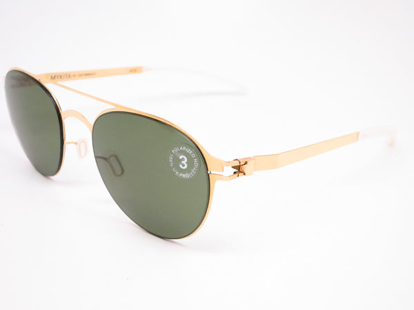 Mykita Reginald No.1 Sun 013 Glossy Gold Polarized Sunglasses - Eye Heart Shades - Mykita - Sunglasses - 1