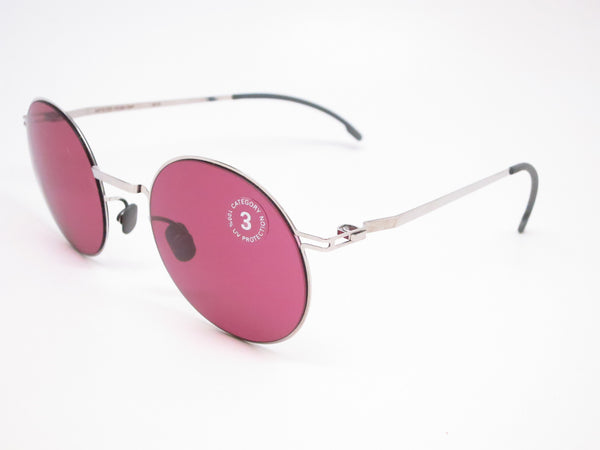 Mykita Lite Sun Teiti 051 Shiny Silver w/Bordeaux Solid Sunglasses - Eye Heart Shades - Mykita - Sunglasses - 1