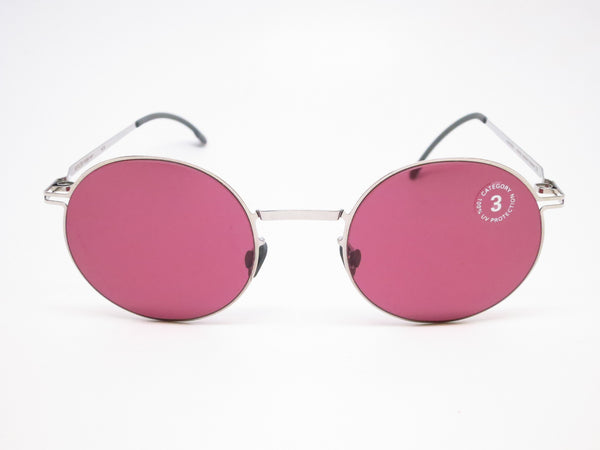 Mykita Lite Sun Teiti 051 Shiny Silver w/Bordeaux Solid Sunglasses - Eye Heart Shades - Mykita - Sunglasses - 2