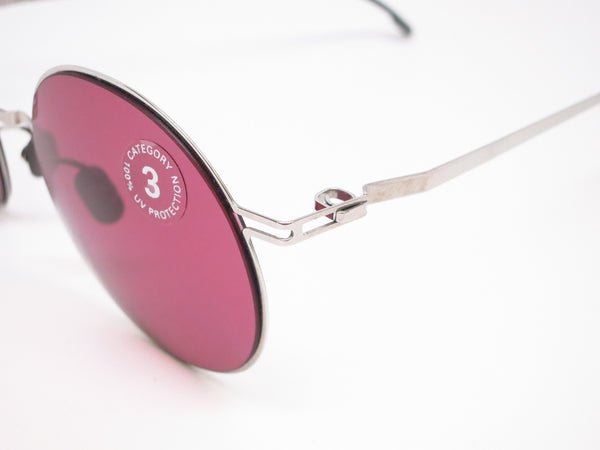 Mykita Lite Sun Teiti 051 Shiny Silver w/Bordeaux Solid Sunglasses - Eye Heart Shades - Mykita - Sunglasses - 3