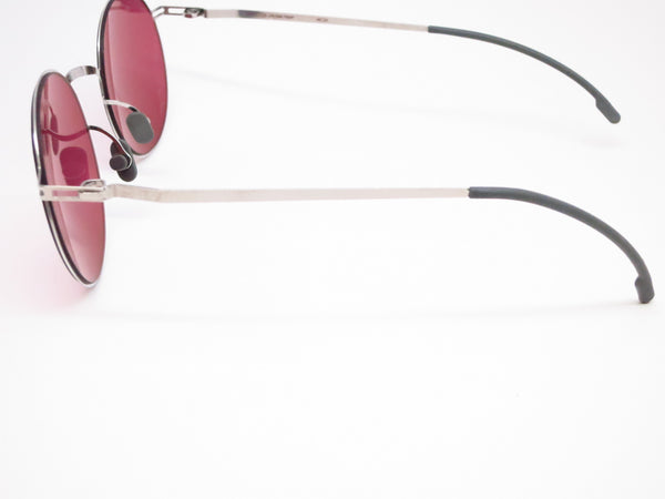 Mykita Lite Sun Teiti 051 Shiny Silver w/Bordeaux Solid Sunglasses - Eye Heart Shades - Mykita - Sunglasses - 5