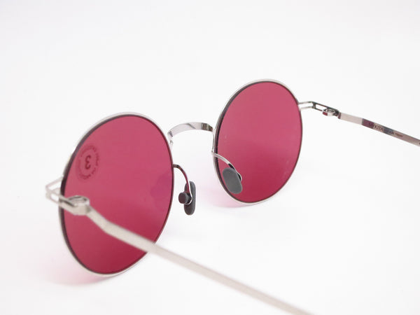 Mykita Lite Sun Teiti 051 Shiny Silver w/Bordeaux Solid Sunglasses - Eye Heart Shades - Mykita - Sunglasses - 6