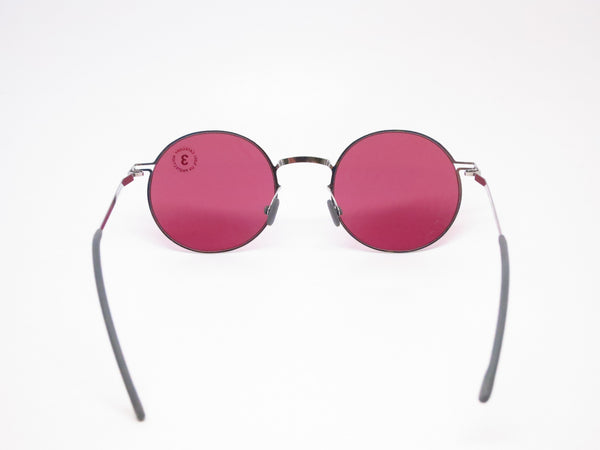 Mykita Lite Sun Teiti 051 Shiny Silver w/Bordeaux Solid Sunglasses - Eye Heart Shades - Mykita - Sunglasses - 7