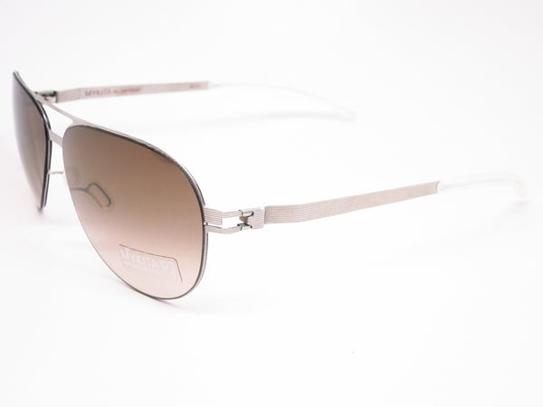 Mykita No1 Sun Tyson 007 Silverline w/Olive Gradient Sunglasses - Eye Heart Shades - Mykita - Sunglasses - 1