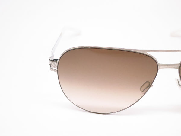 Mykita No1 Sun Tyson 007 Silverline w/Olive Gradient Sunglasses - Eye Heart Shades - Mykita - Sunglasses - 4