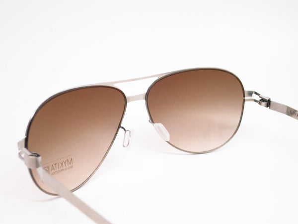 Mykita No1 Sun Tyson 007 Silverline w/Olive Gradient Sunglasses - Eye Heart Shades - Mykita - Sunglasses - 6