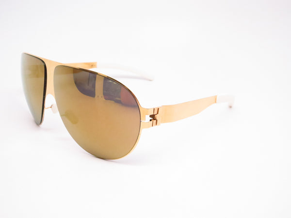 Mykita Bernard Willhelm Wastl F9 Gold w/Gold Flash Mirrored Sunglasses - Eye Heart Shades - Mykita - Sunglasses - 1