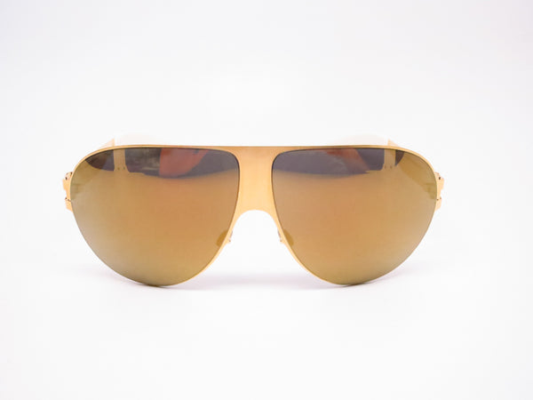 Mykita Bernard Willhelm Wastl F9 Gold w/Gold Flash Mirrored Sunglasses - Eye Heart Shades - Mykita - Sunglasses - 2