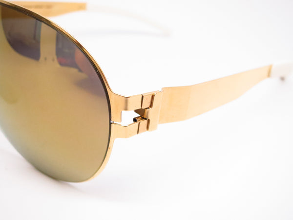 Mykita Bernard Willhelm Wastl F9 Gold w/Gold Flash Mirrored Sunglasses - Eye Heart Shades - Mykita - Sunglasses - 3
