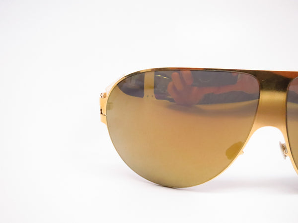 Mykita Bernard Willhelm Wastl F9 Gold w/Gold Flash Mirrored Sunglasses - Eye Heart Shades - Mykita - Sunglasses - 4