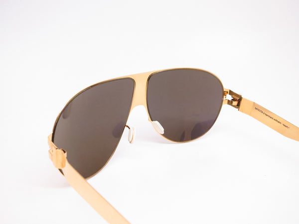 Mykita Bernard Willhelm Wastl F9 Gold w/Gold Flash Mirrored Sunglasses - Eye Heart Shades - Mykita - Sunglasses - 6
