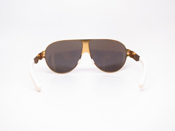 Mykita Bernard Willhelm Wastl F9 Gold w/Gold Flash Mirrored Sunglasses - Eye Heart Shades - Mykita - Sunglasses - 7
