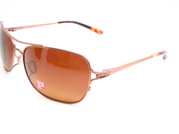 Oakley Conquest OO4101-01 Satin Rose Gold Polarized Sunglasses - Eye Heart Shades - Oakley - Sunglasses - 1