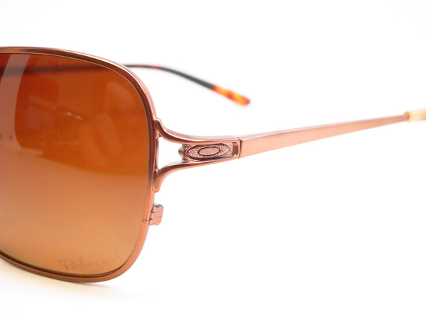 Oakley Conquest OO4101-01 Satin Rose Gold Polarized Sunglasses - Eye Heart Shades - Oakley - Sunglasses - 3