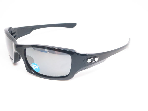 Oakley OO9238-06 Fives Squared Polished Black Polarized Sunglasses - Eye Heart Shades - 1