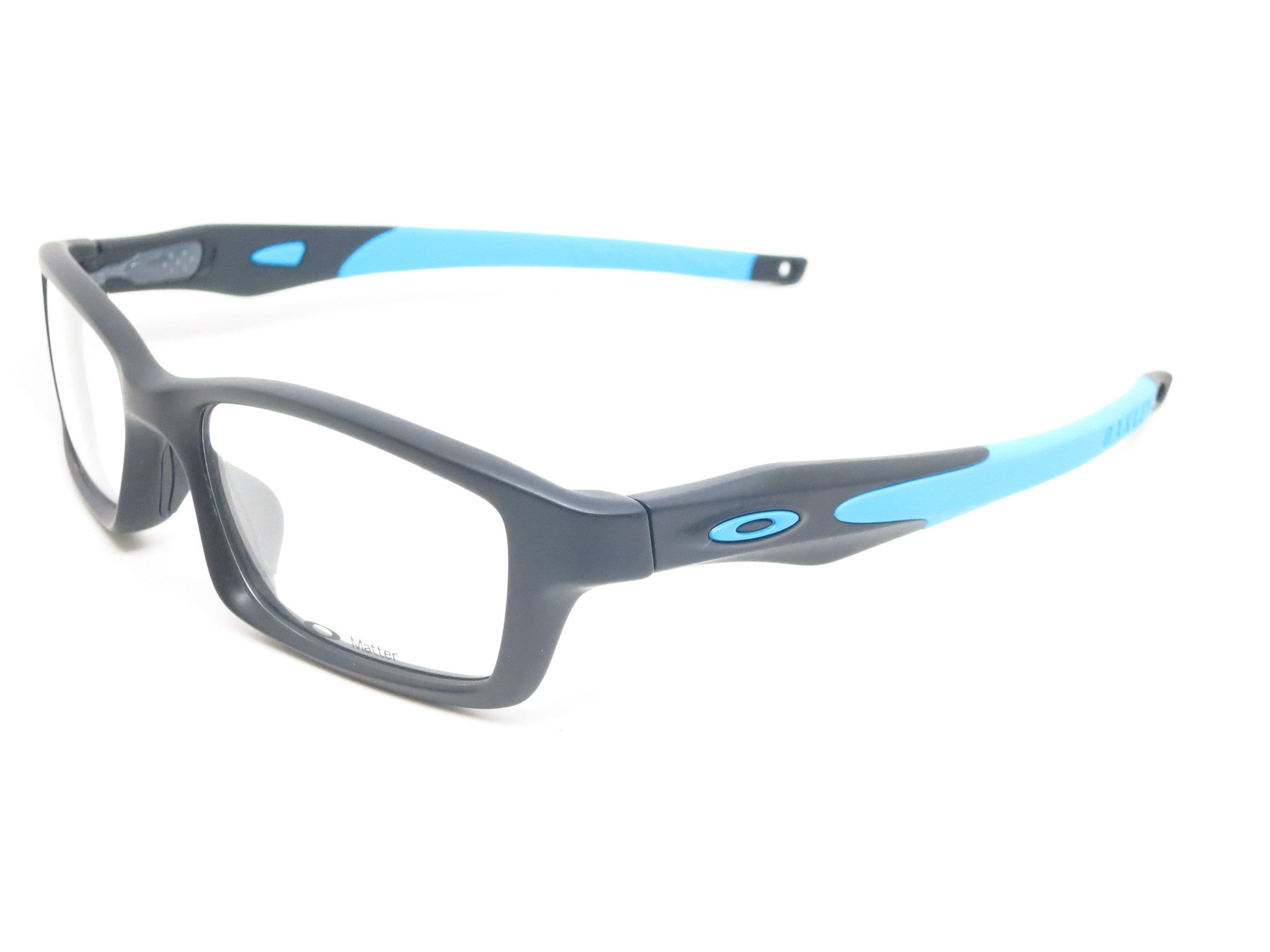da92660cd7 Oakley Crosslink OX8027-0153 Satin Black   Sky Blue Eyeglasses - Eye Heart  Shades -
