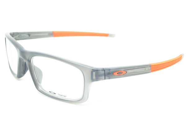 Oakley Crosslink Pitch OX8037-0652 Satin Grey Smoke Eyeglasses - Eye Heart Shades - Oakley - Eyeglasses - 1