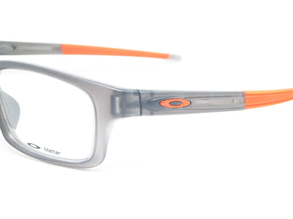 Oakley Crosslink Pitch OX8037-0652 Satin Grey Smoke Eyeglasses - Eye Heart Shades - Oakley - Eyeglasses - 3