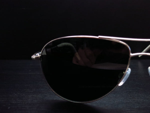 Oliver Peoples Benedict OV 1002S 5241/3F Silver Polarized Sunglasses - Eye Heart Shades - Oliver Peoples - Sunglasses - 4