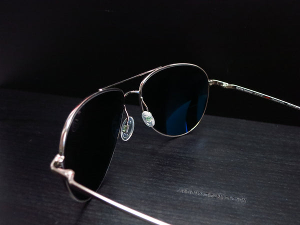 Oliver Peoples Benedict OV 1002S 5241/3F Silver Polarized Sunglasses - Eye Heart Shades - Oliver Peoples - Sunglasses - 6