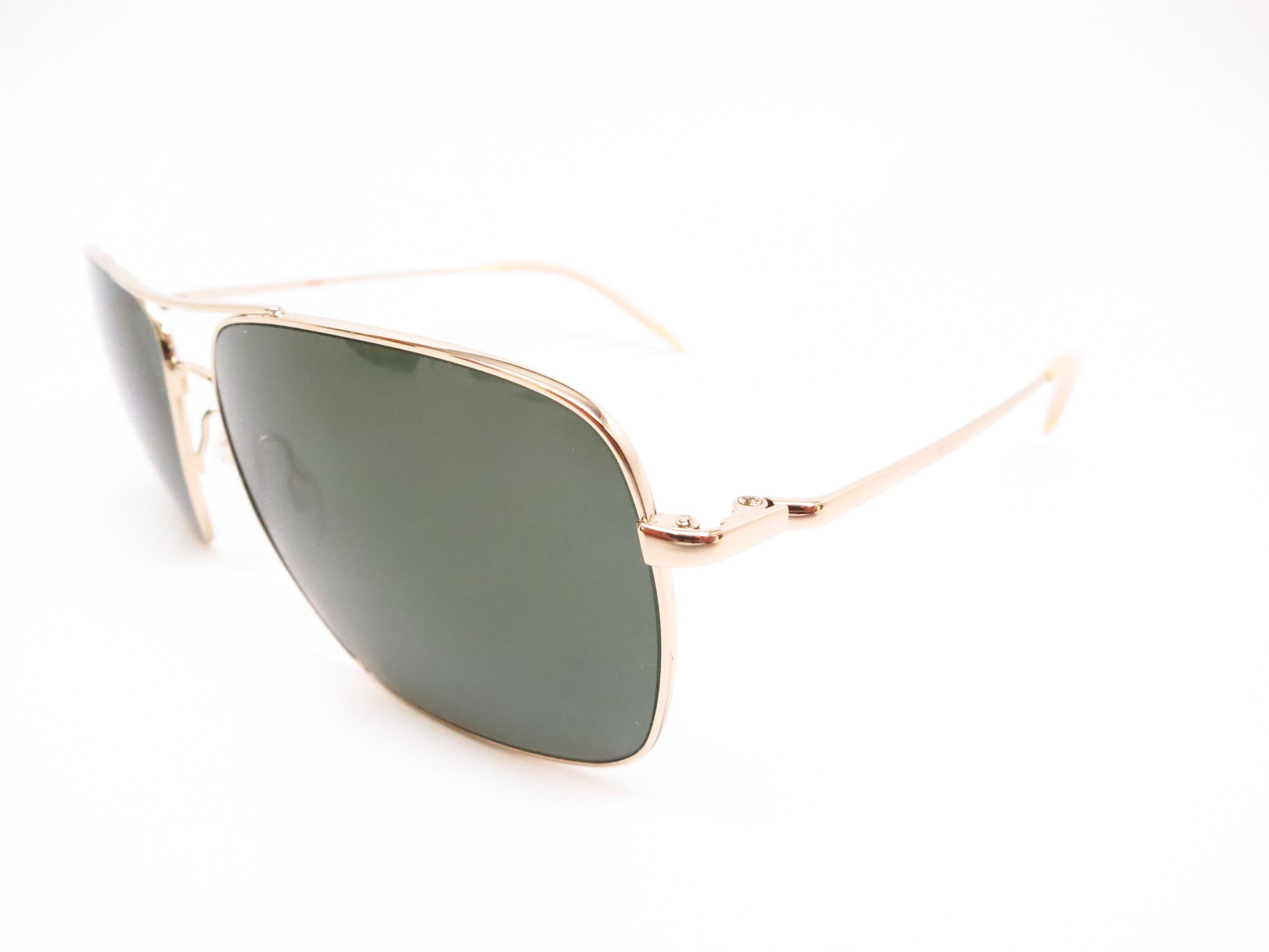 7c029d3534b Oliver Peoples Clifton OV 1150S 5035 P1 Gold Polarized Sunglasses - Eye  Heart Shades ...