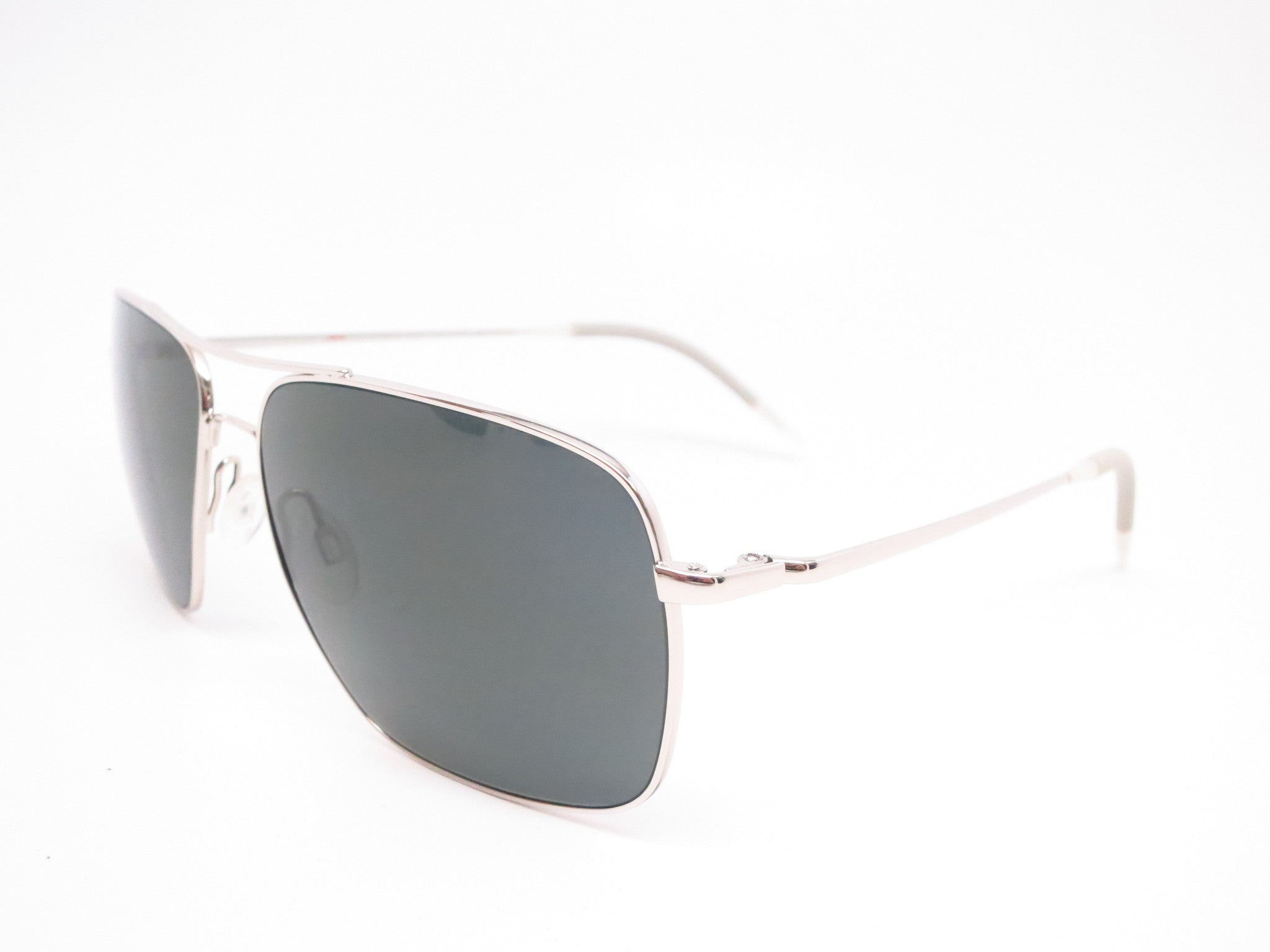 1a50f24269d Oliver Peoples Clifton OV 1150-S 5036 P2 Silver Polarized Sunglasses - Eye  Heart ...