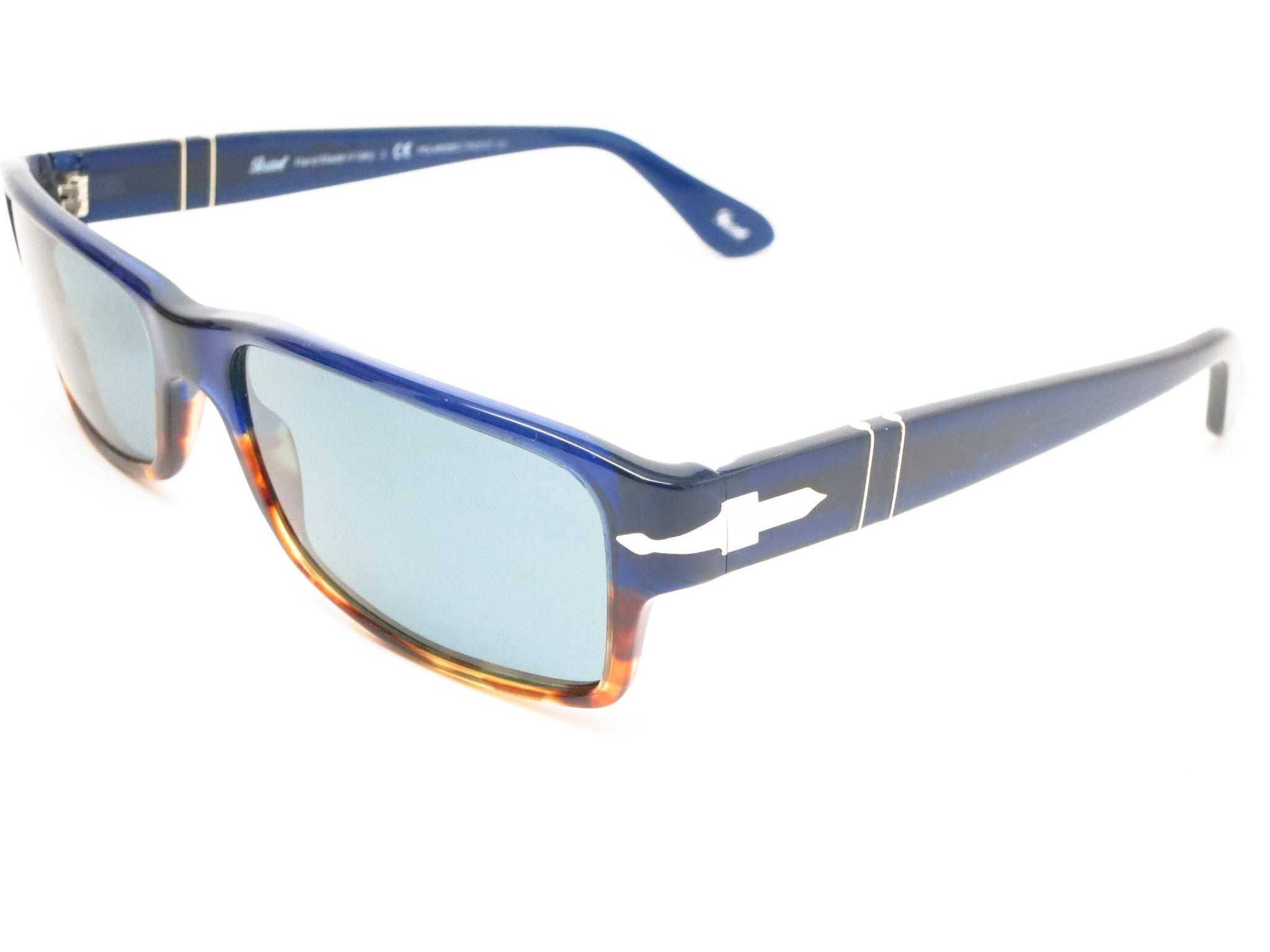 Persol PO 2747-S 955/4N Havana / Blue Sunglasses - Eye Heart Shades
