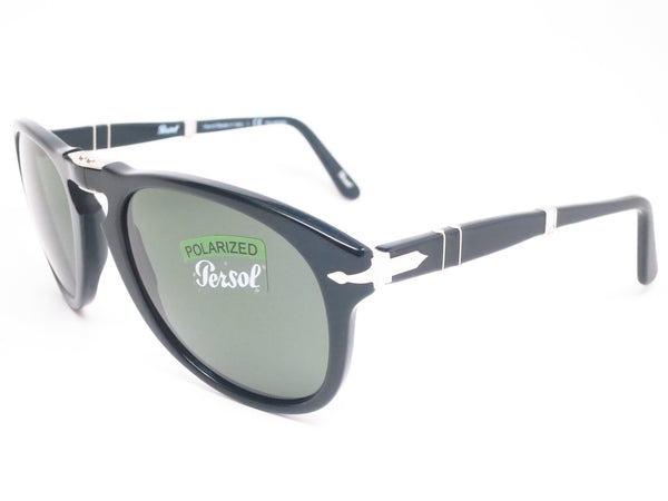 Persol PO 714-S 95/58 Black Polarized Folding Sunglasses - Eye Heart Shades - Persol - Sunglasses - 1