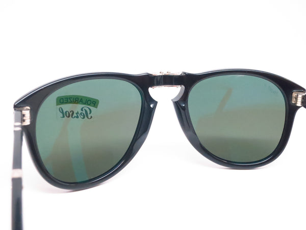 Persol PO 714-S 95/58 Black Polarized Folding Sunglasses - Eye Heart Shades - Persol - Sunglasses - 7