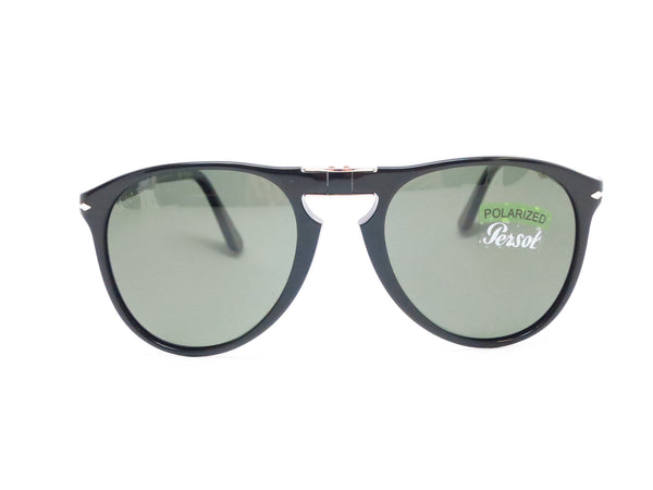 Persol PO 9714-S 95/58 Shiny Black Polarized Folding Sunglasses - Eye Heart Shades - Persol - Sunglasses - 2