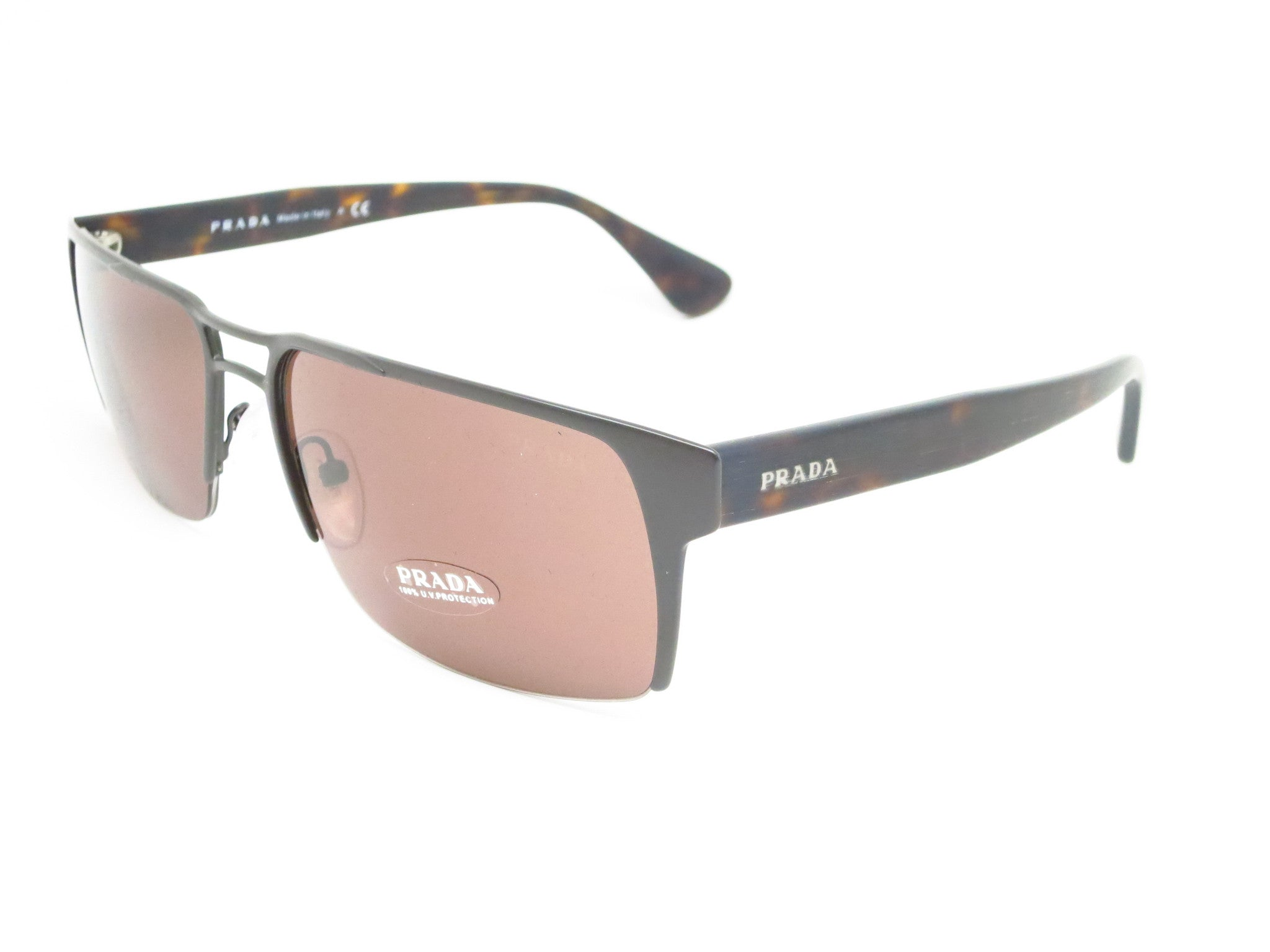 c8d0042f54f42 Prada SPR 52R LAH-8C1 Matte Brown Sunglasses - Eye Heart Shades - Prada ...