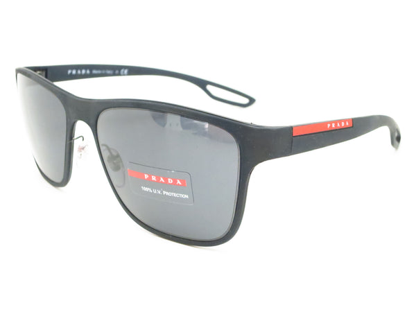 Prada Sport SPS 57Q DG0-5Z1 Black Rubber Polarized Sunglasses - Eye Heart Shades - Prada - Sunglasses - 1