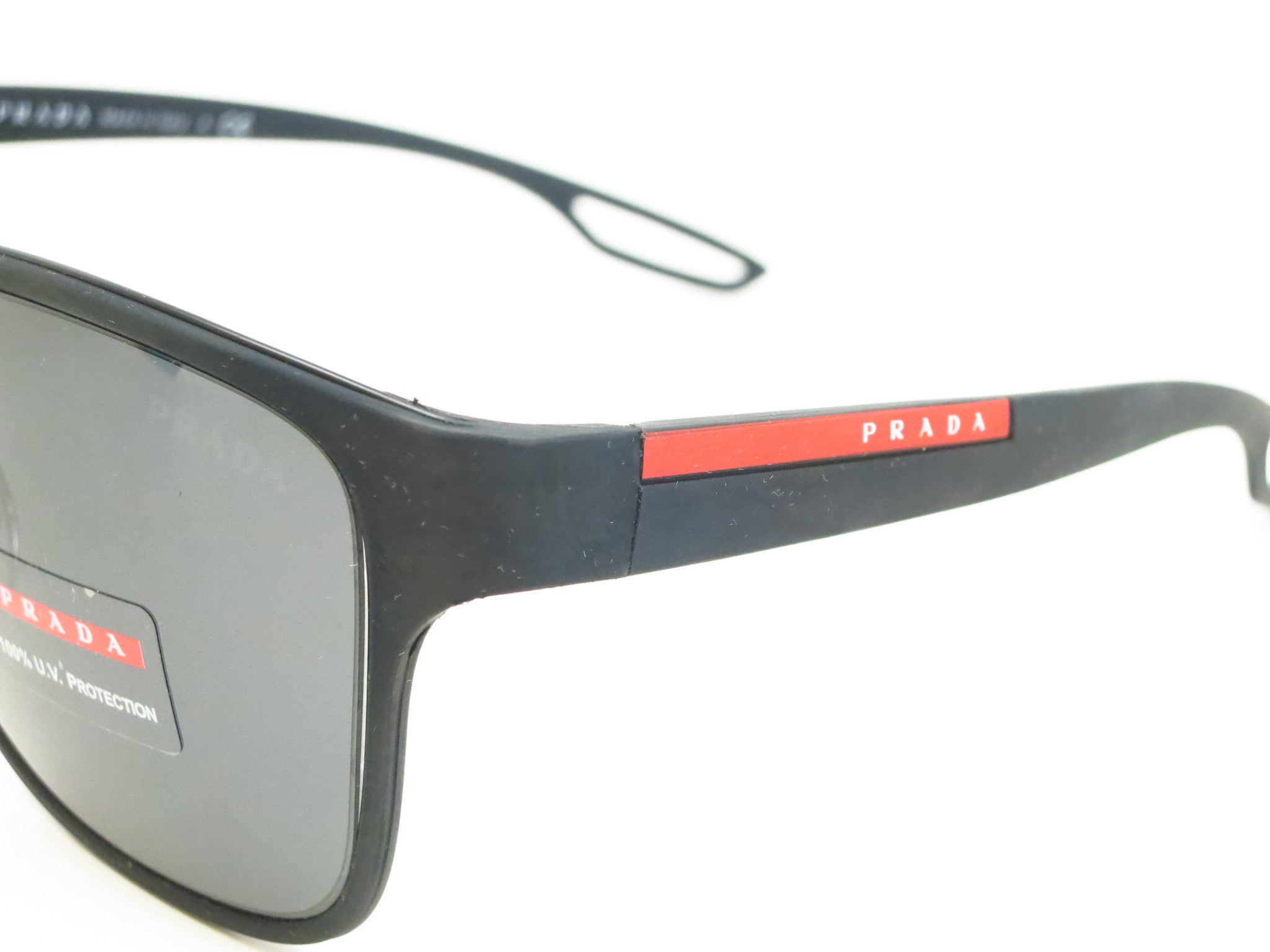 343c860df44f ... Prada Sport SPS 57Q DG0-5Z1 Black Rubber Polarized Sunglasses - Eye  Heart Shades ...
