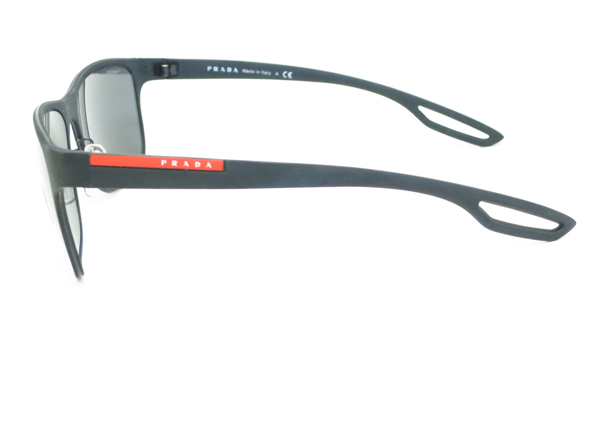 09419891c06a ... germany prada sport sps 57q dg0 5z1 black rubber polarized sunglasses  eye heart shades e7a0c fc41d